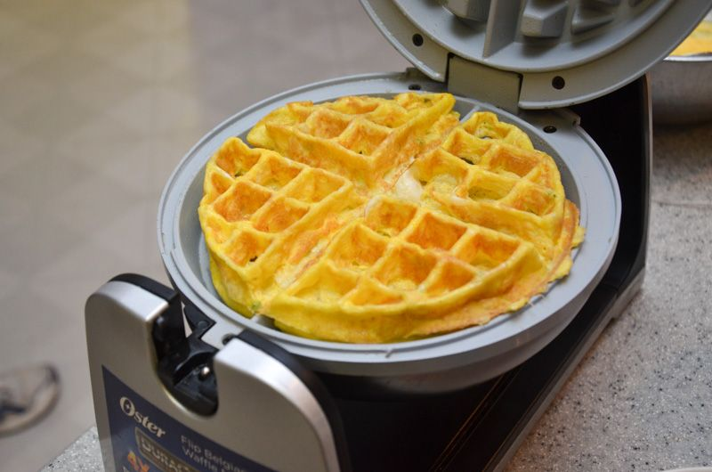 Mornings Made Easy With Waffle Maker Omelettes - Forkly