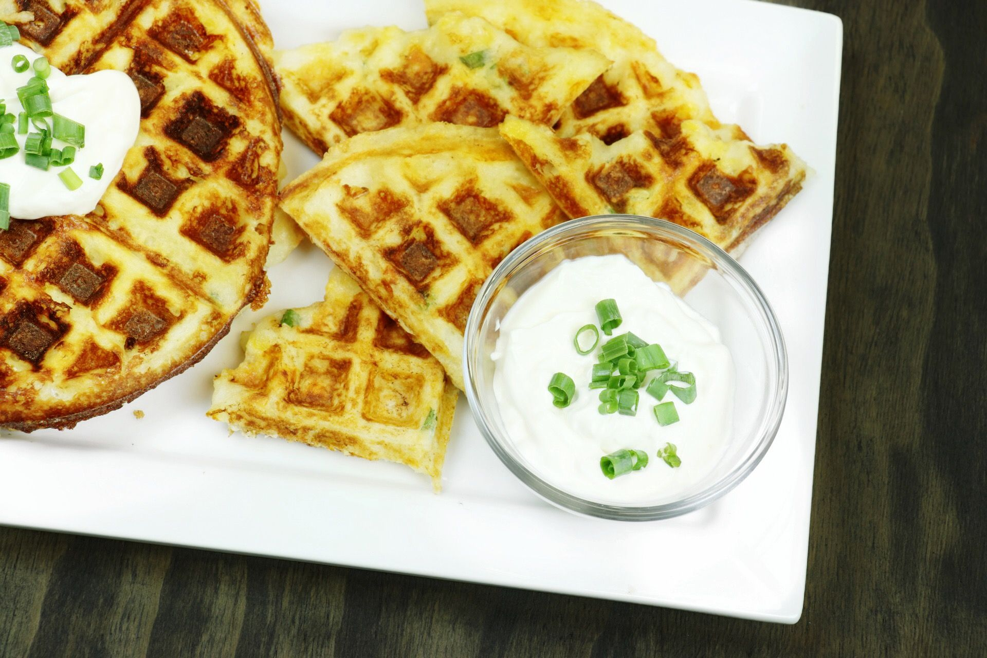 Leftover Cheesy Mashed Potato Waffles - Forkly