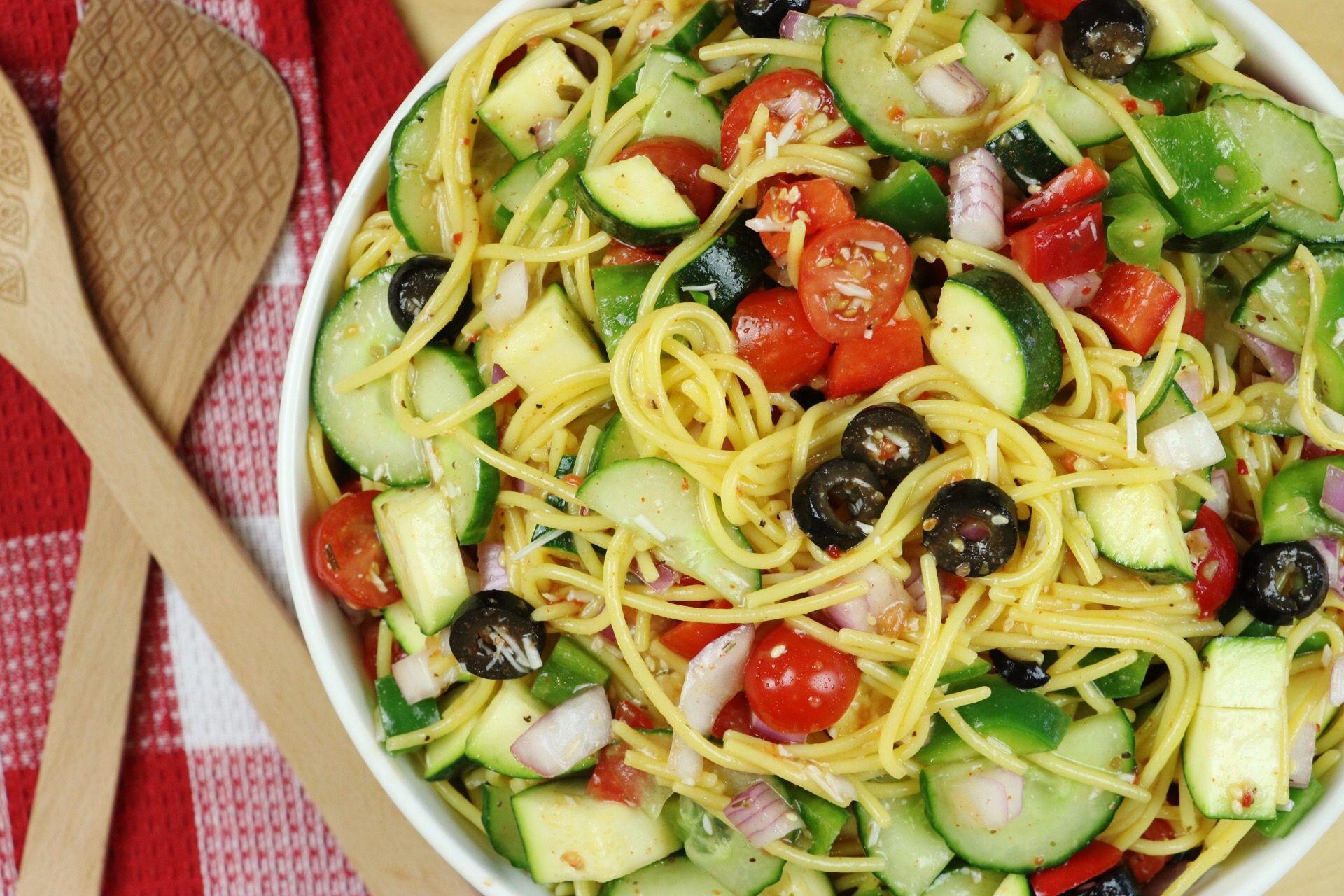 California Spaghetti Salad (Gluten-Free!) - Forkly