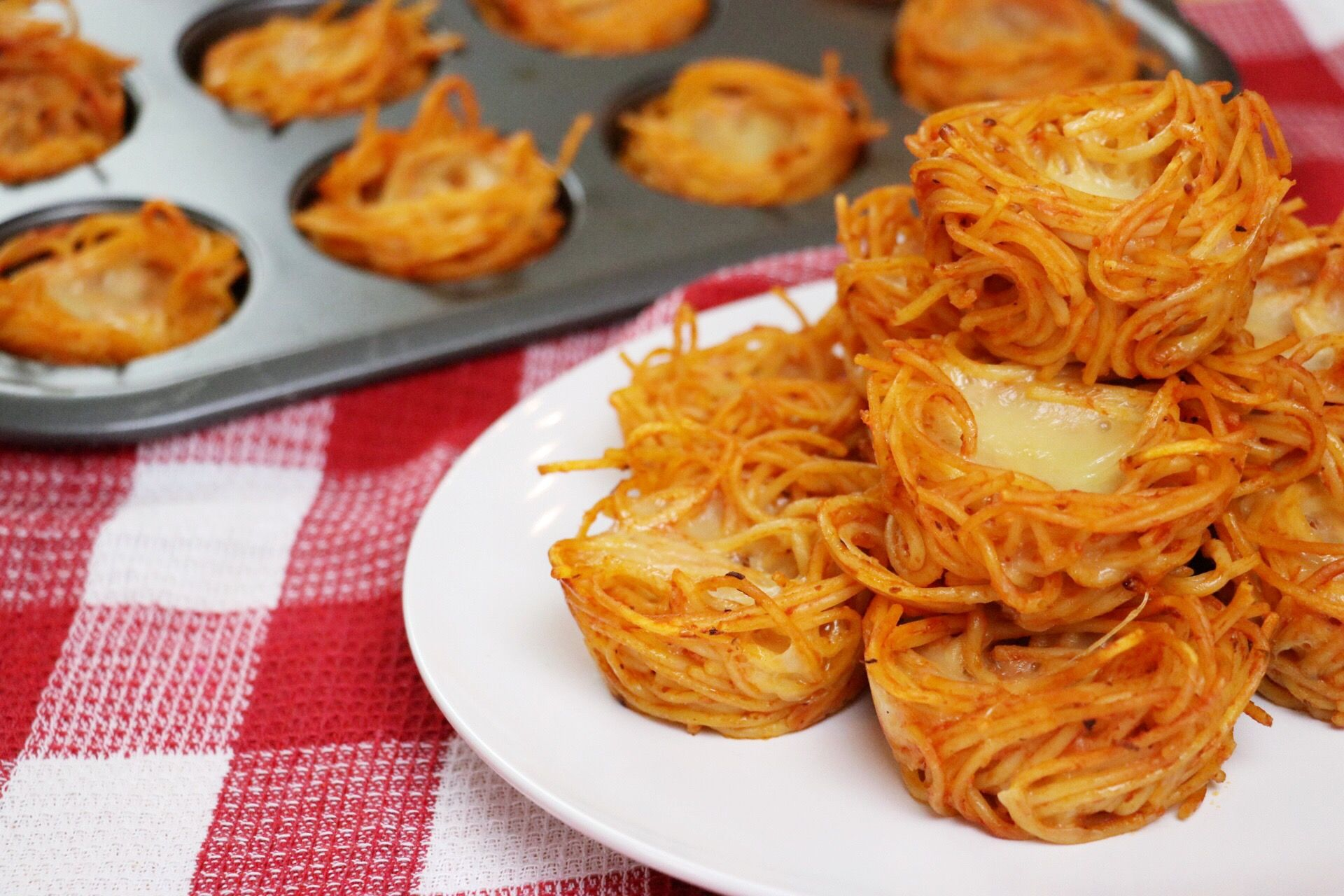Leftover Spaghetti Nests