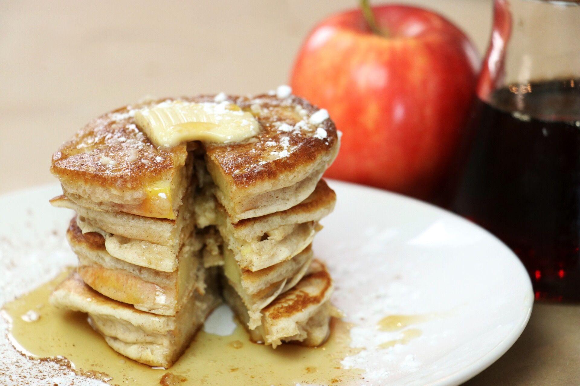 Cinnamon Apple Ring Pancakes - Forkly