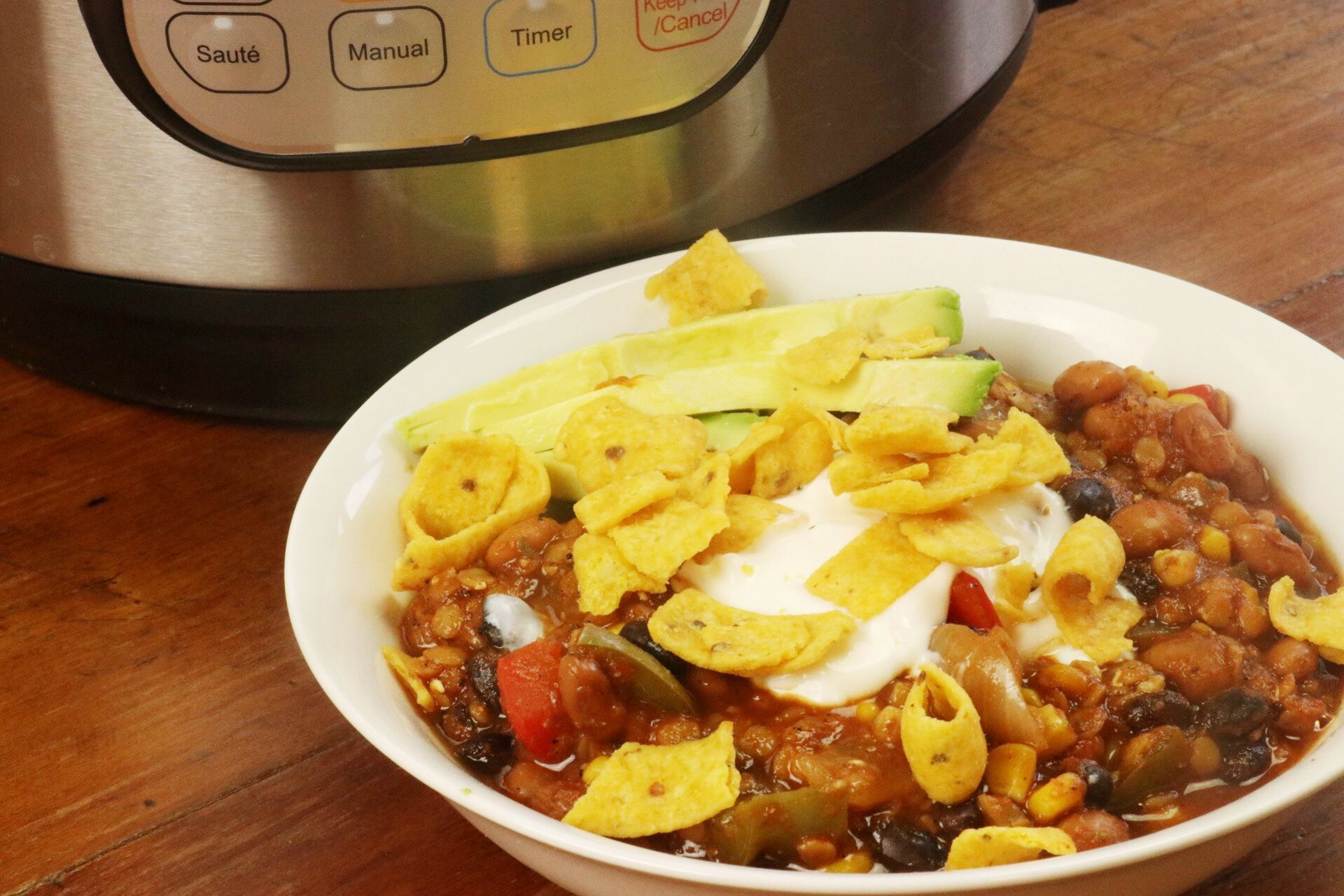 Incredible Instant Pot Vegan Red Lentil Chili - Forkly